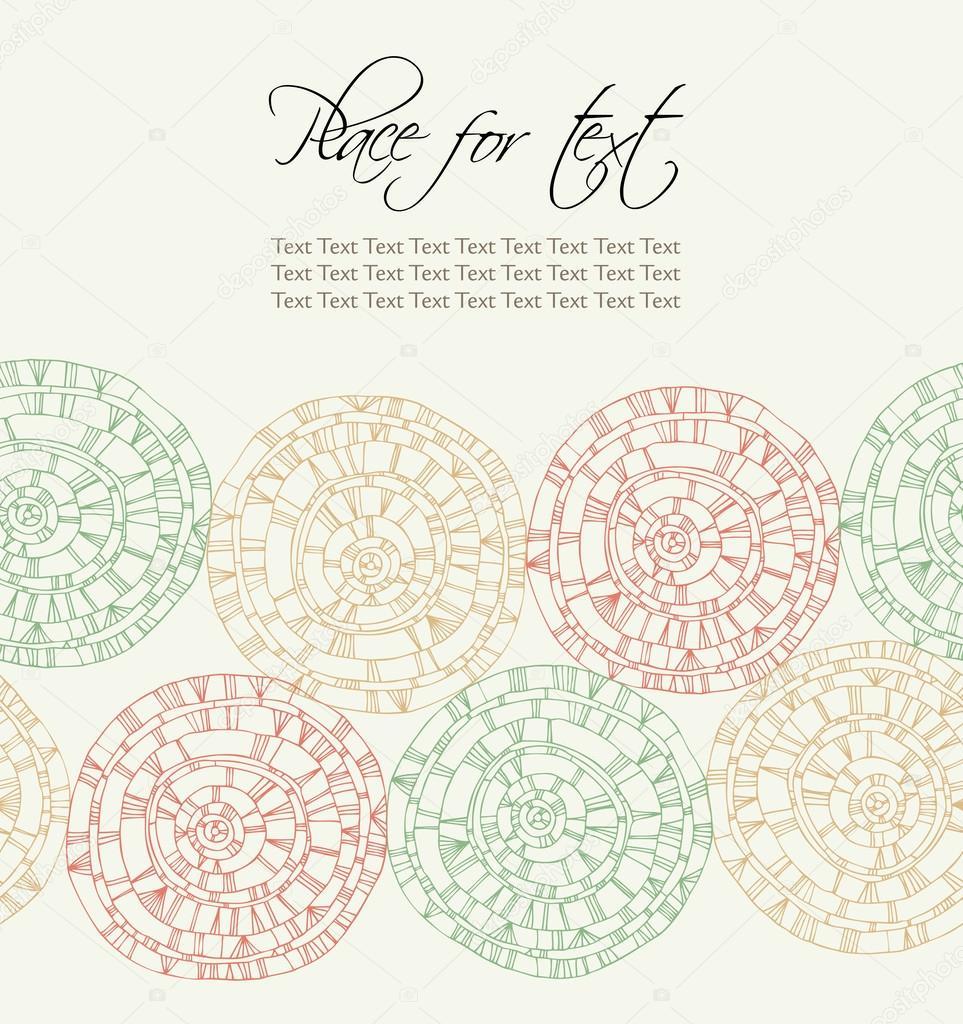 banner de texto con mano dibuja círculos lineales. patrón decorativo ...