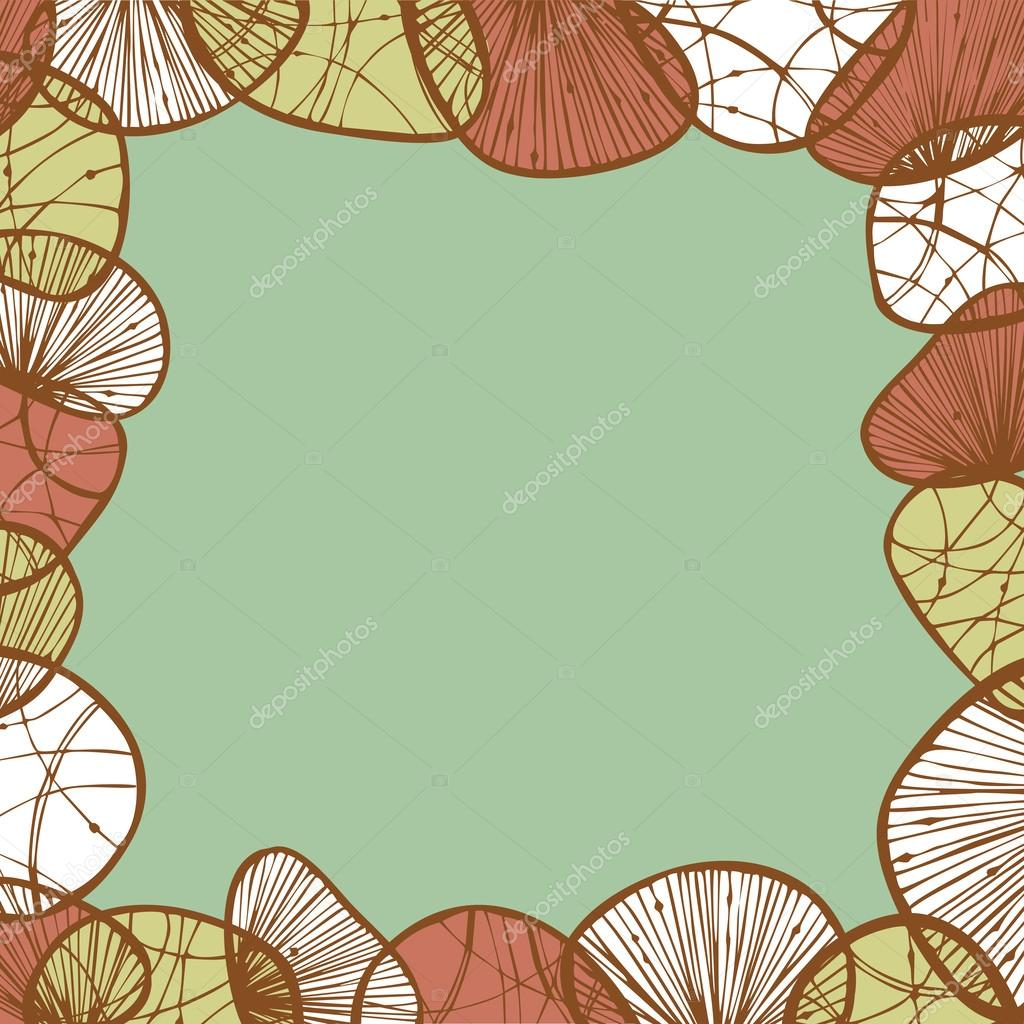 abstract vintage illustration for design beautiful lace frame