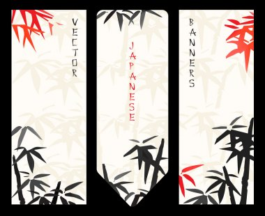 Vector Japanese banners