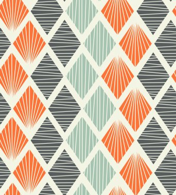 Seamless geometric pattern with rhombus. Decorative abstract background