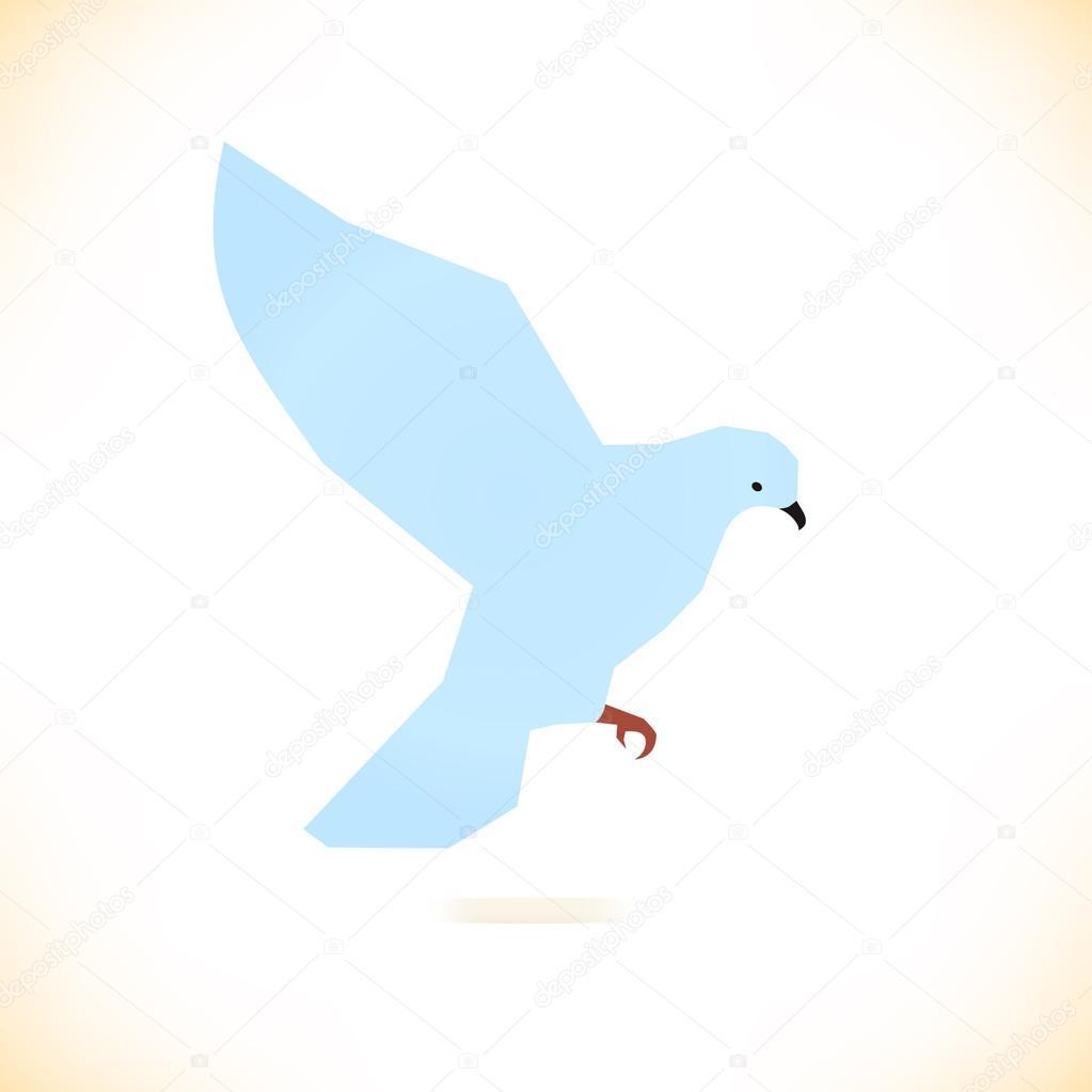 White Bird Pigeon Dove Symbol Of Peace Stock Vector Silmen