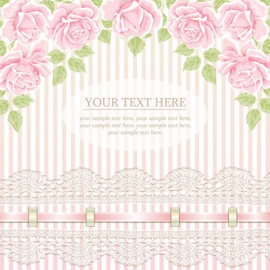 Vintage background with roses