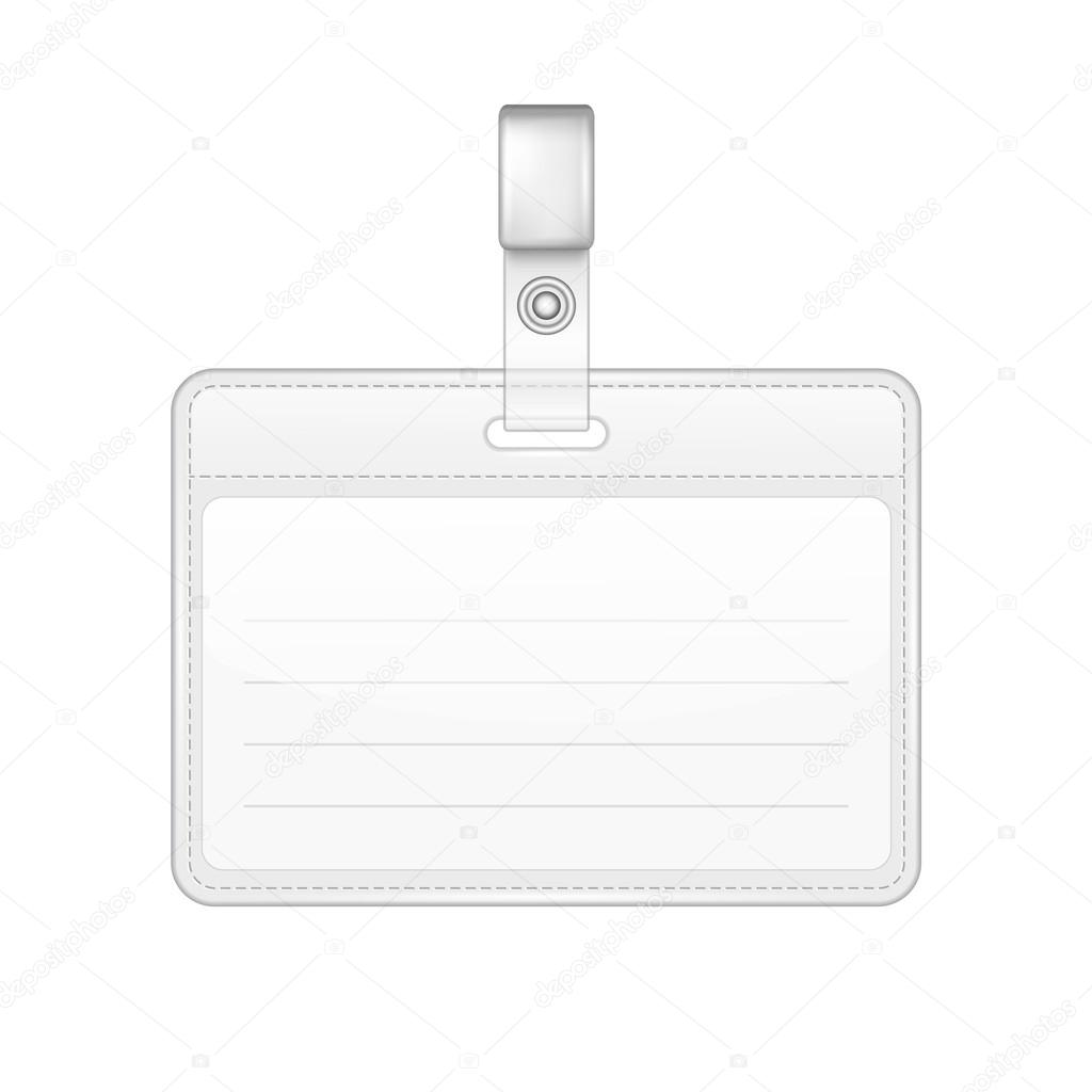 blank identification card badge id template stock vector