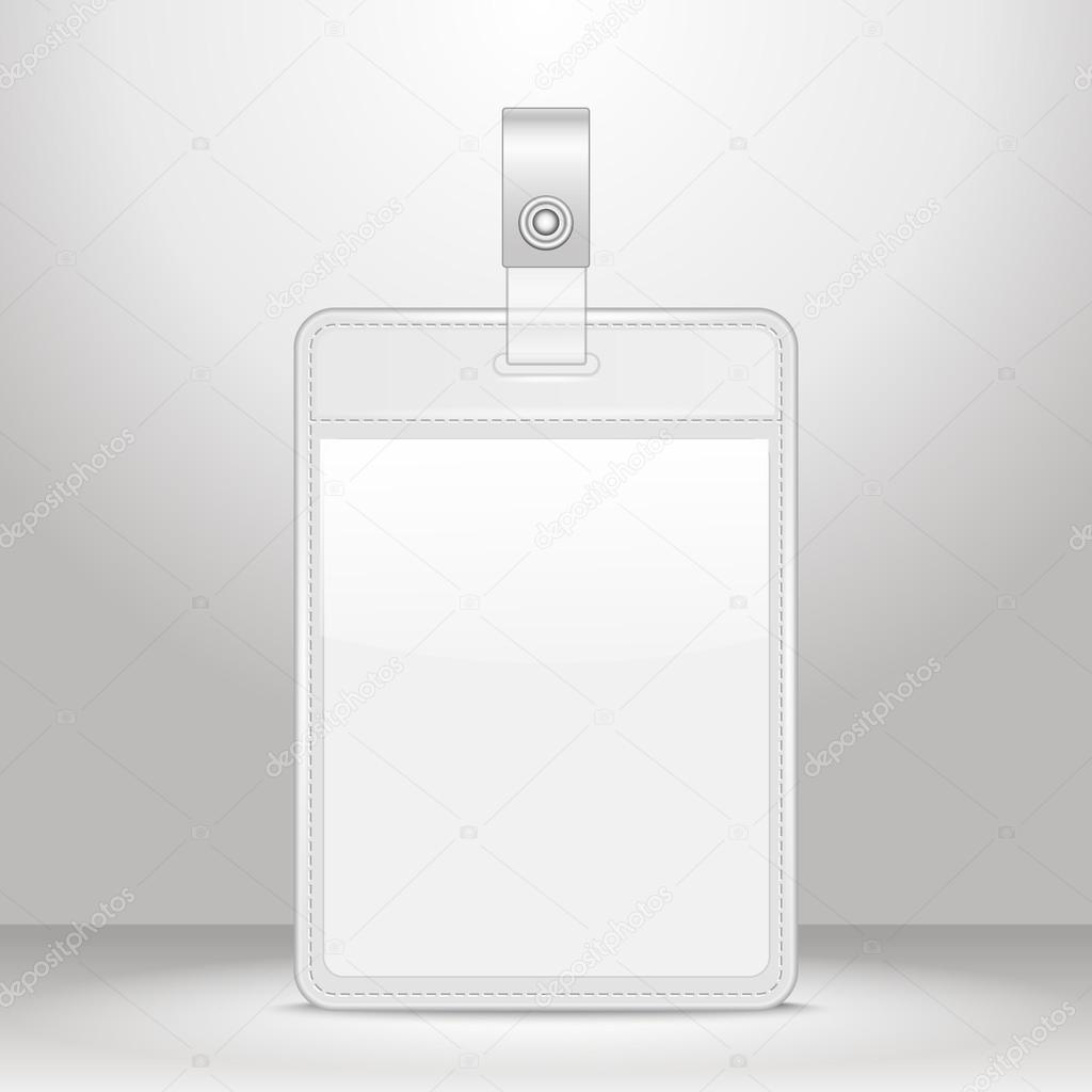 blank identification card badge id template stock vector