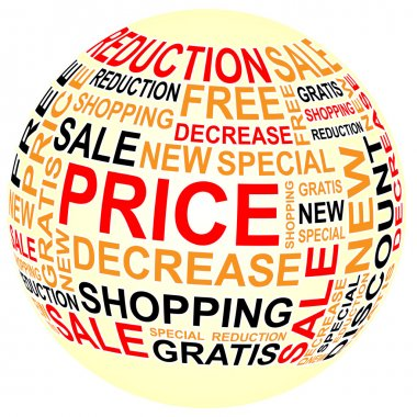 Ball of sales with text