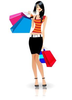 Lady went shopping