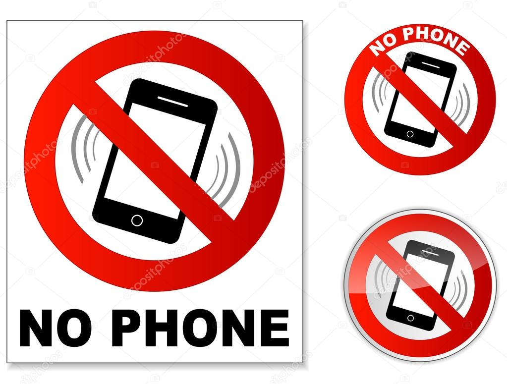 no phone sign stock vector
