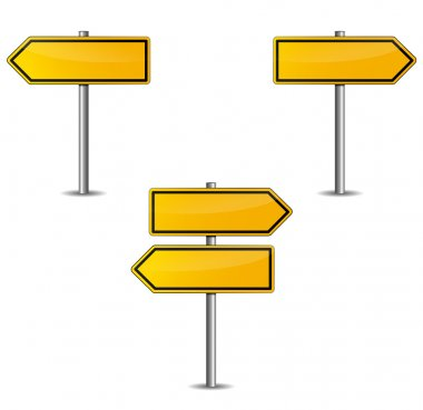 Yellow arrows sign