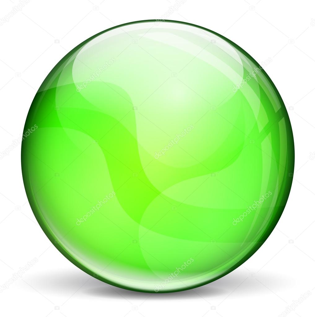Vector green 3d bubble — Stock Vector © nickylarson #42659823
