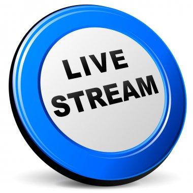 Vector 3d live stream icon