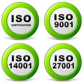 Fotografie Vektor-Iso-Zertifizierung-Symbol