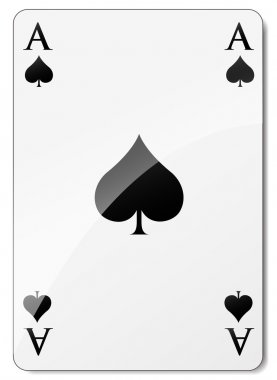 Vector ace of spades