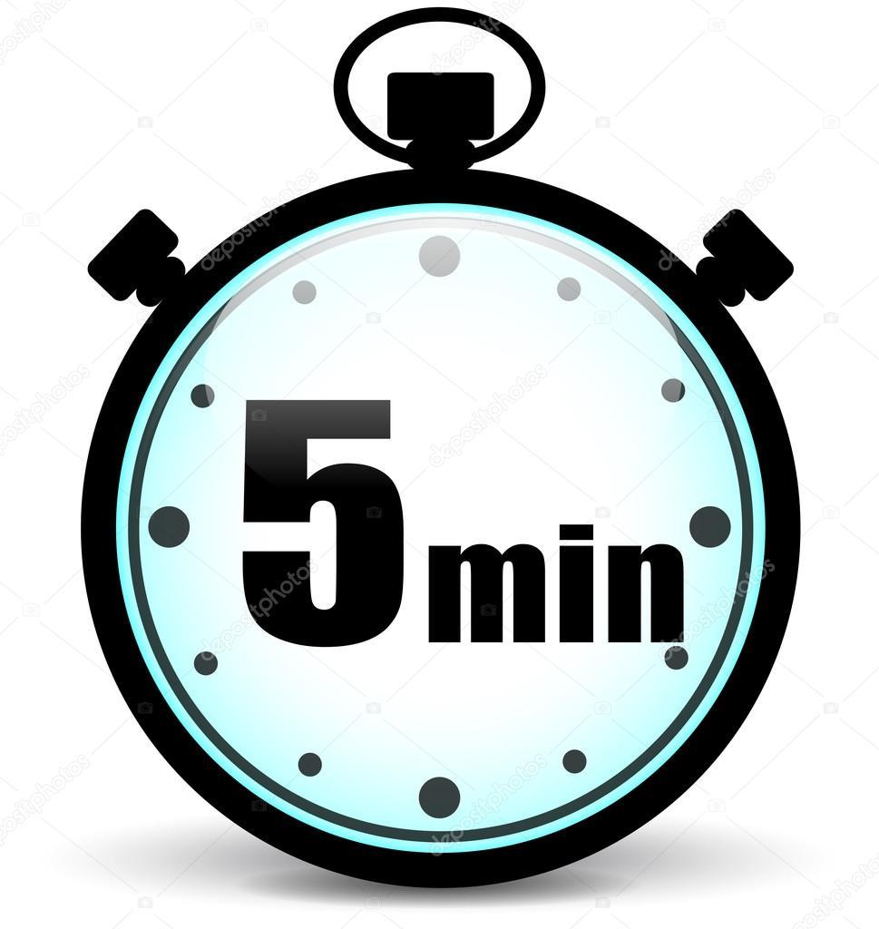 Cron metro de cinco minutos vector de stock for Cocinar en 5 min