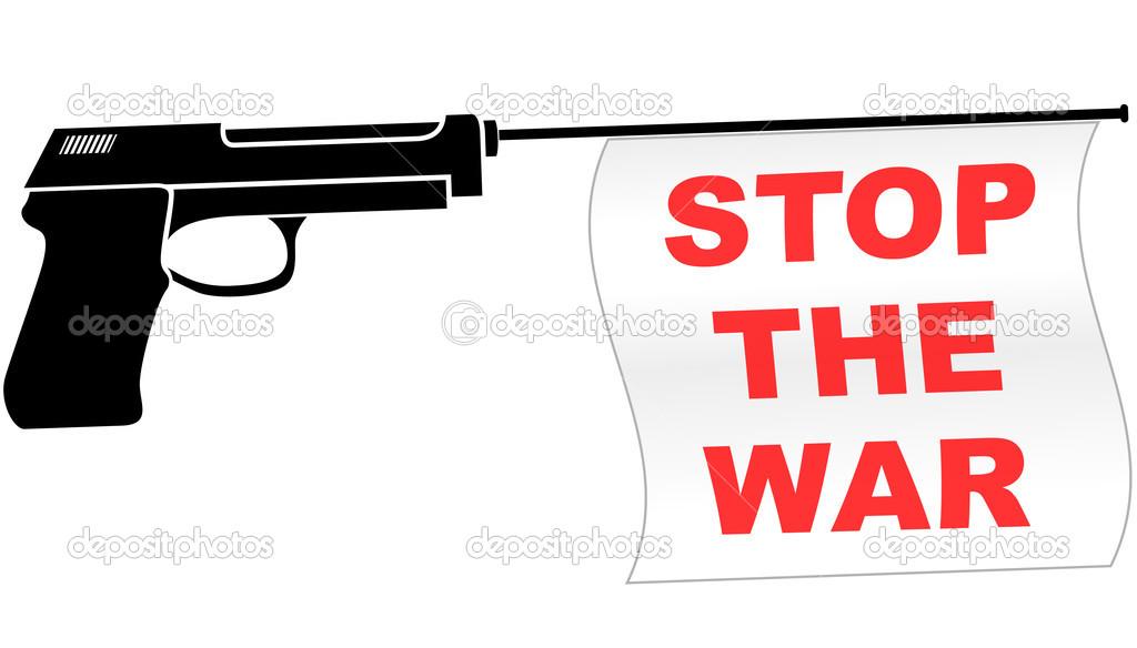 Stop War Symbol Stock Vector Nickylarson 47994581