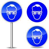 Vektor-Schutzbrille