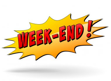 Vector week-end icon