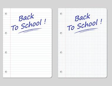Vector backto school sheet