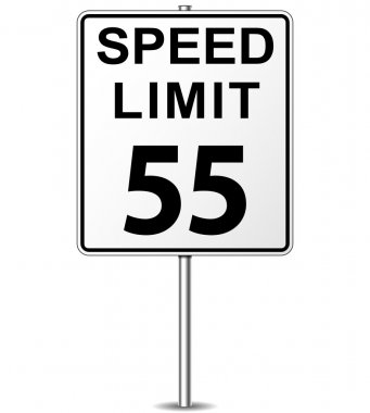 Vector speed limit sign