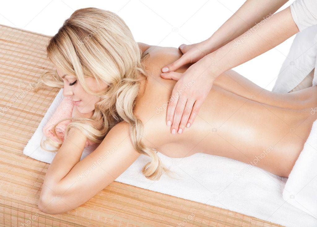 fotos van vrouwen massage met happy