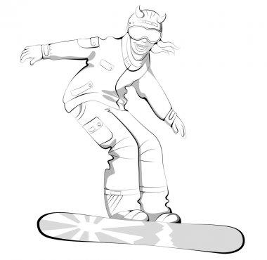 Snowboard lifestyle woman