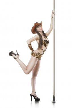 Poledancer young woman