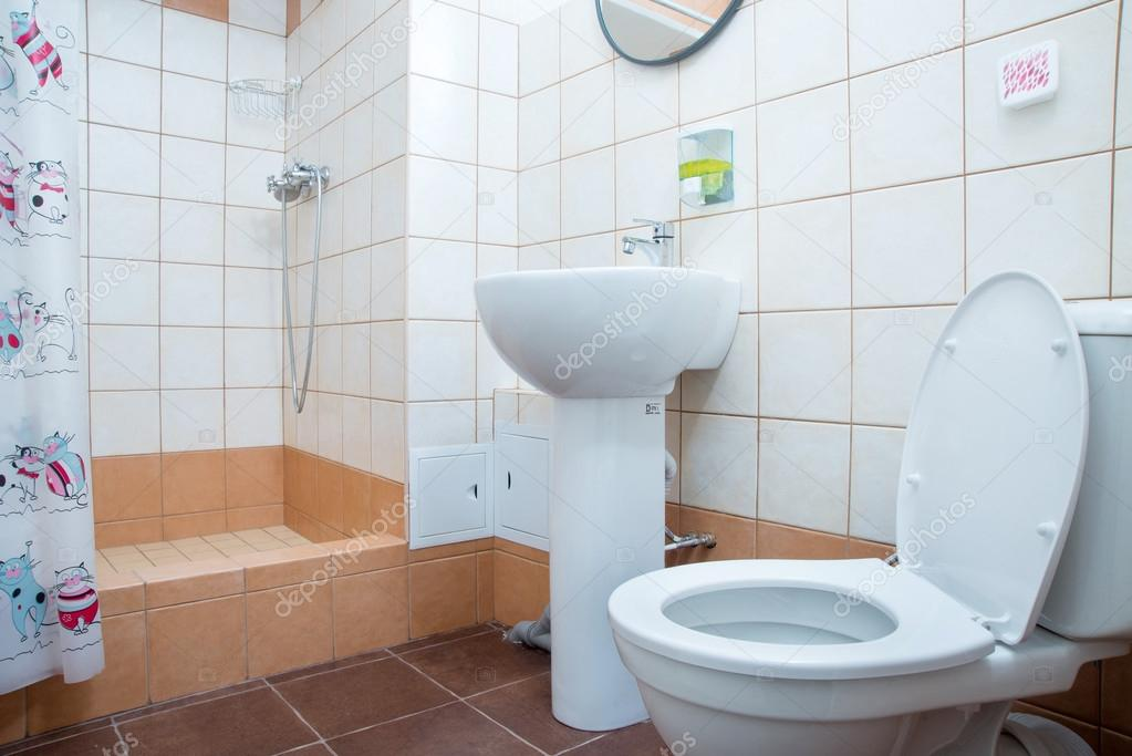 cuvette de toilette dans une salle de bain photographie vasilisa k 48641467. Black Bedroom Furniture Sets. Home Design Ideas