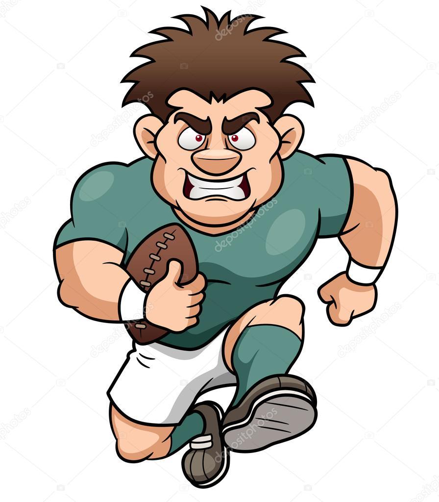 Joueur de rugby de dessin anim image vectorielle sararoom 28834643 - Dessin de joueur de rugby ...
