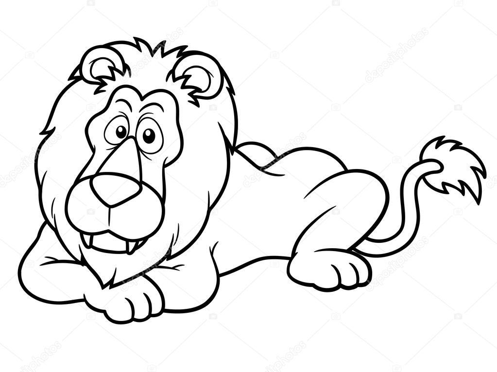 León de dibujos animados — Vector de stock © sararoom #28934615