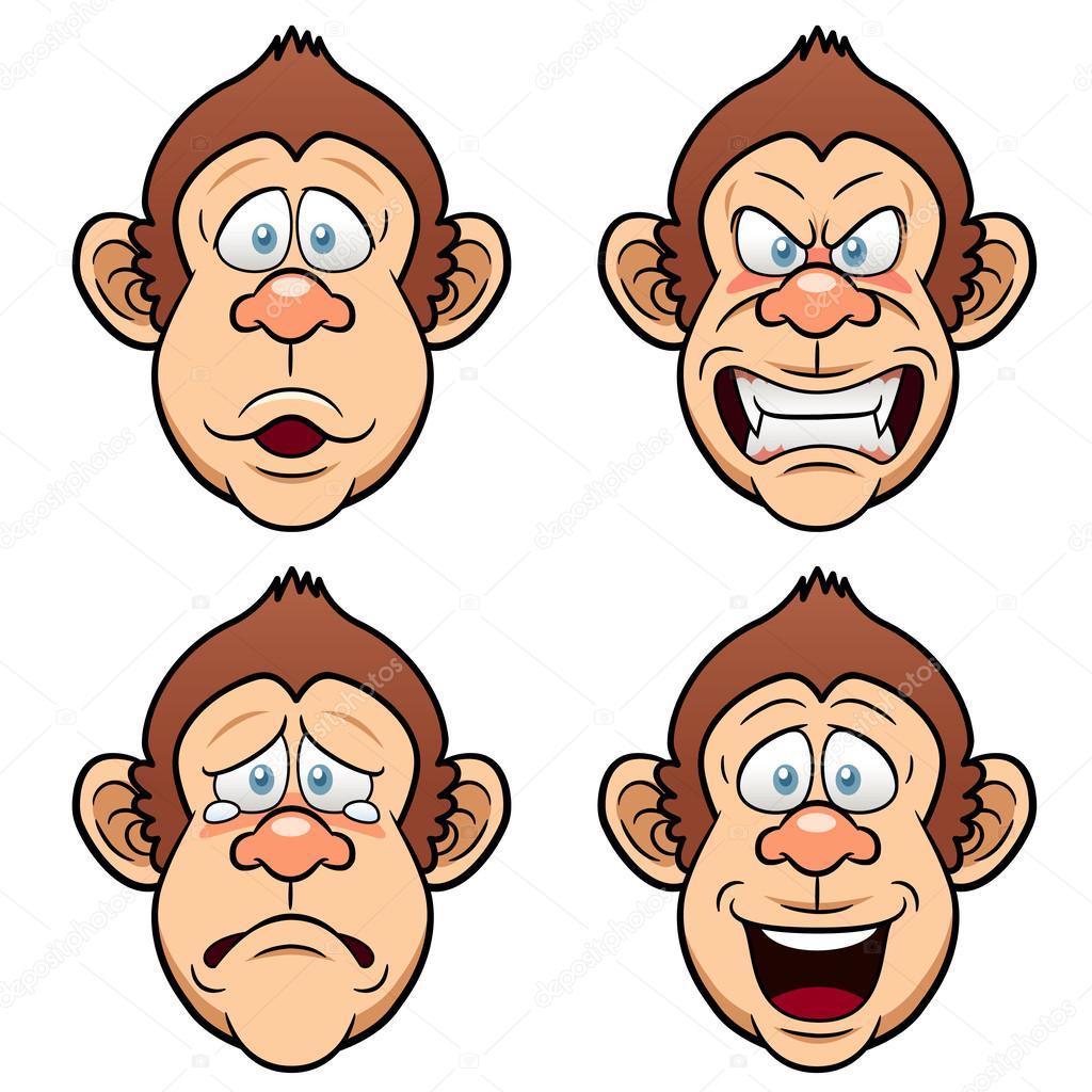 Cartoon Face Monkeys