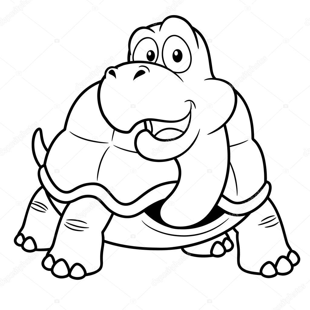 Cartoon-Schildkröte — Stockvektor © sararoom #28935731