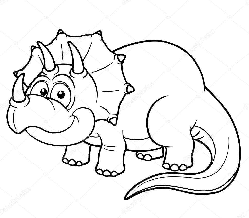 Cartoon dinosaur Stock Vector