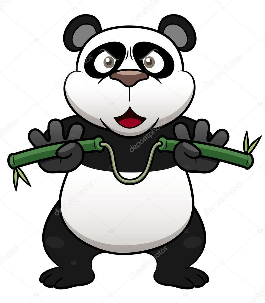 Cartone animato panda — vettoriali stock sararoom