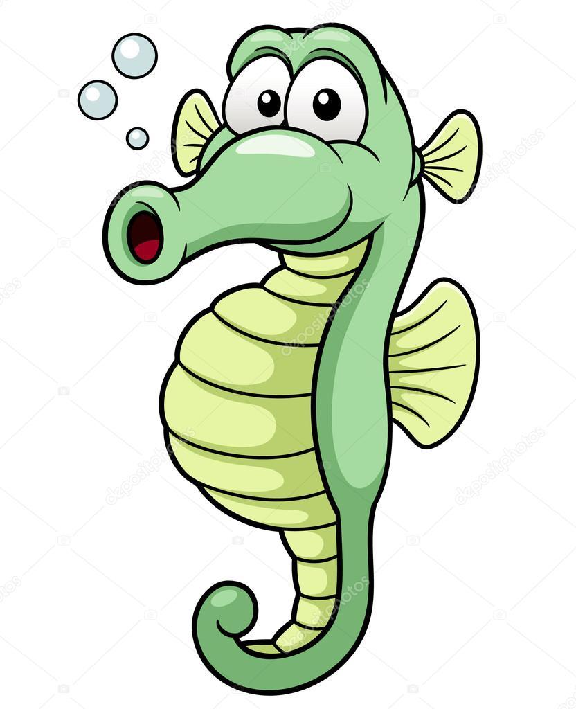 dibujos animados de caballito de mar — Archivo Imágenes Vectoriales ...