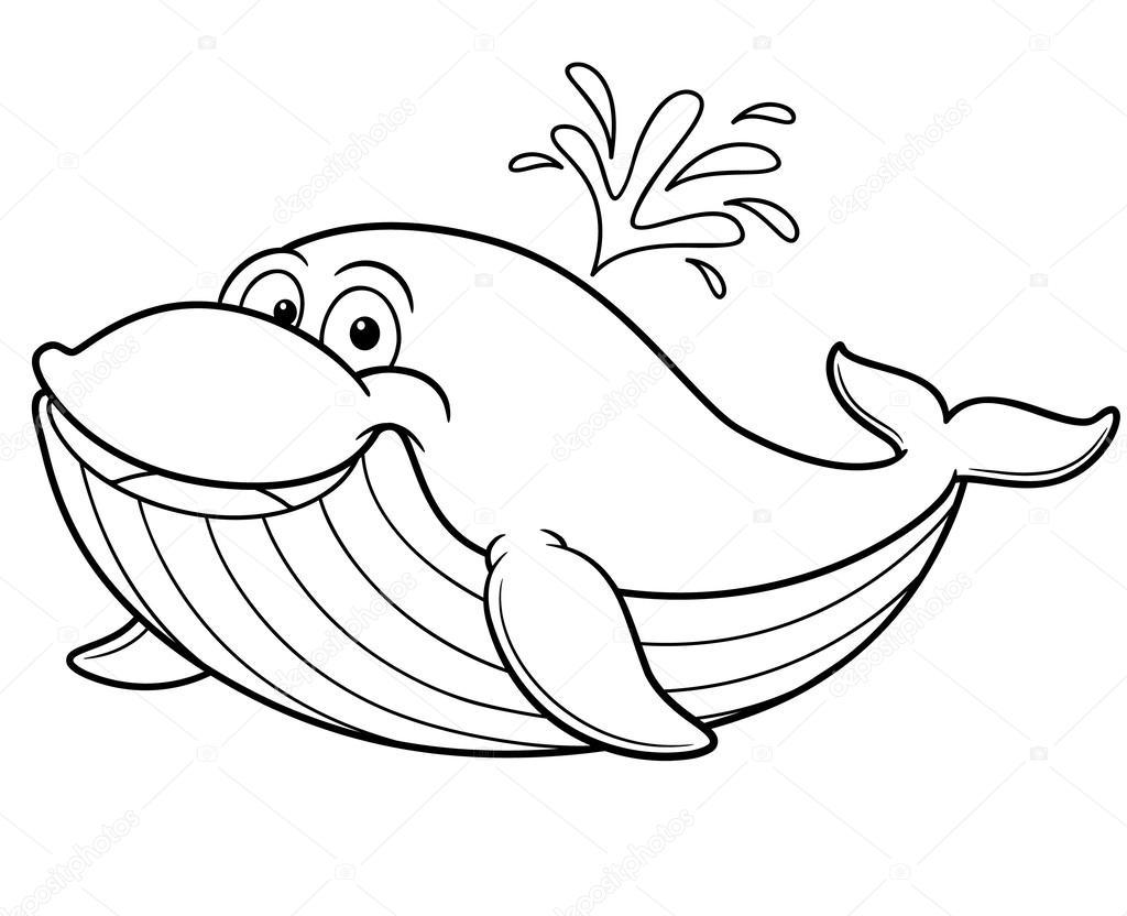 ballena de dibujos animados — Archivo Imágenes Vectoriales ...