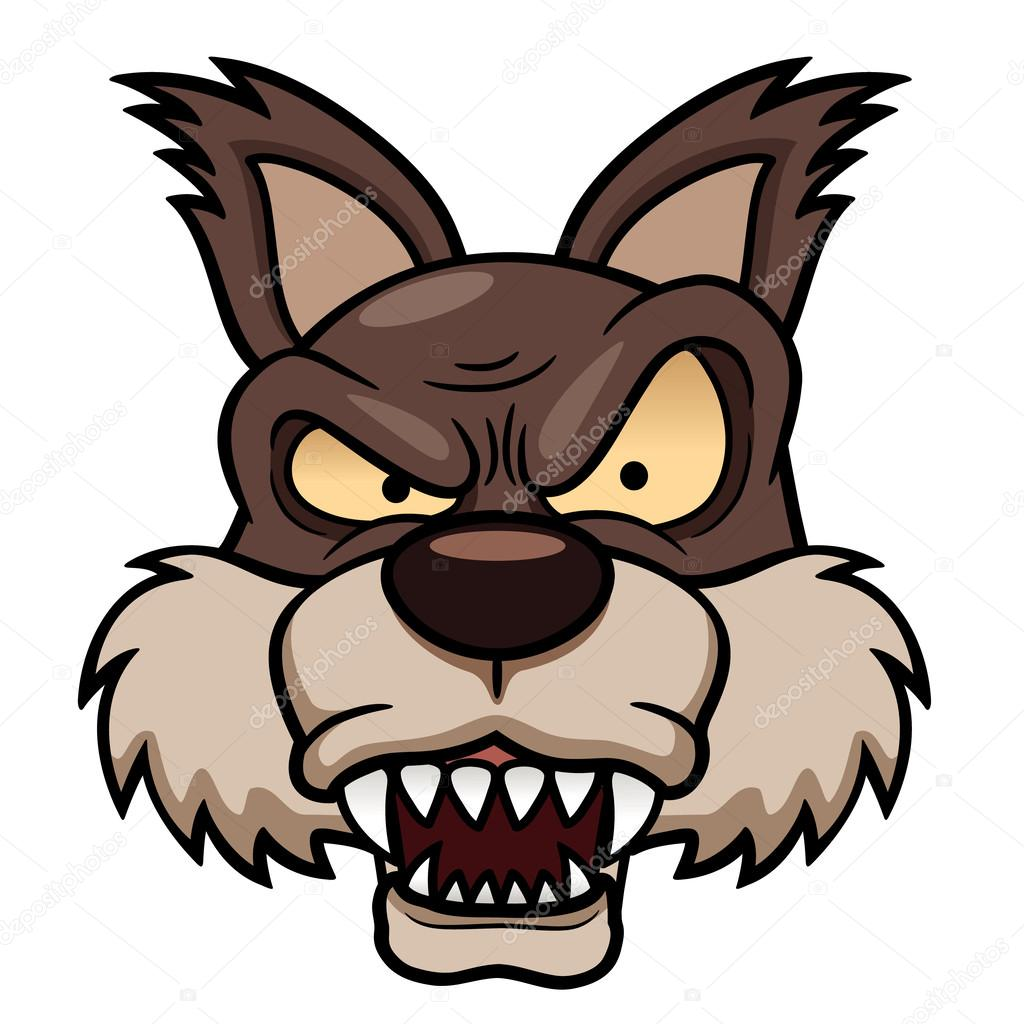 Cartoon wolf face