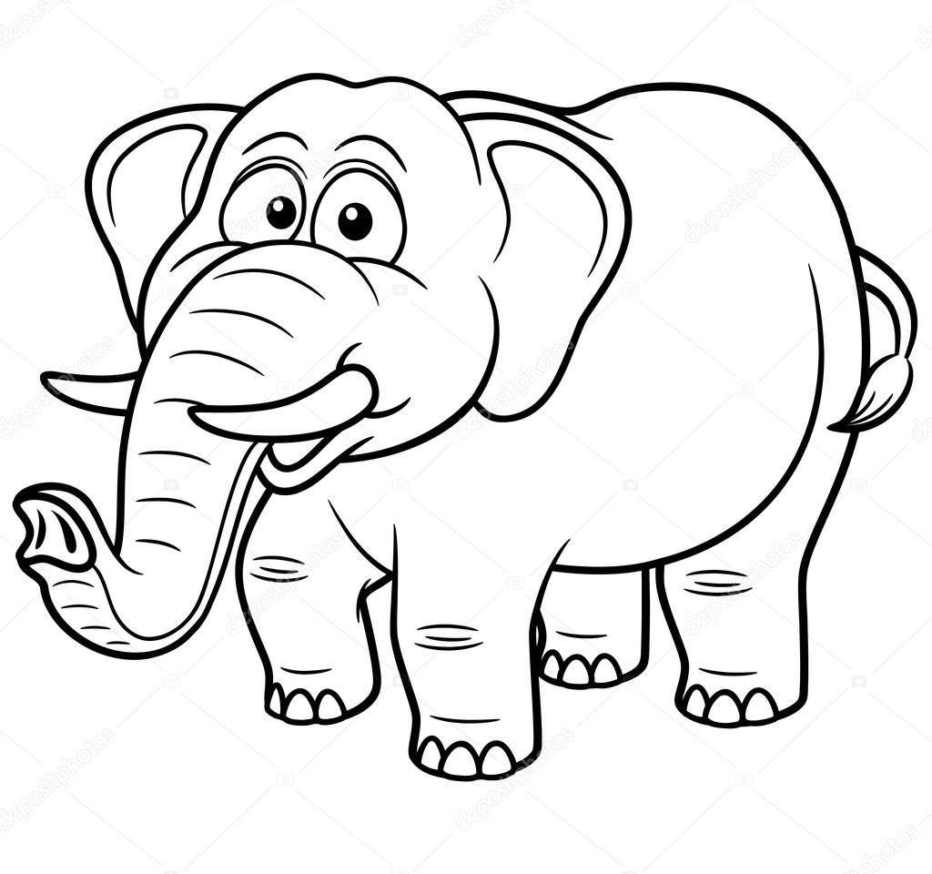 Cartone animato elefante — vettoriali stock sararoom