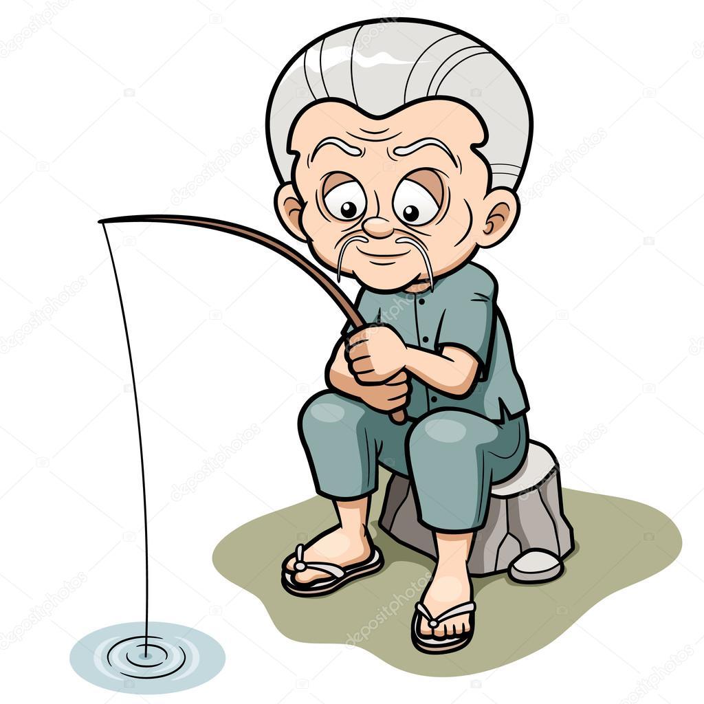 Kresleny Starec Rybareni Stock Vektor C Sararoom 29175105