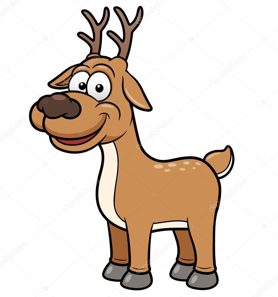 Výsledek obrázku pro kreslený jelen