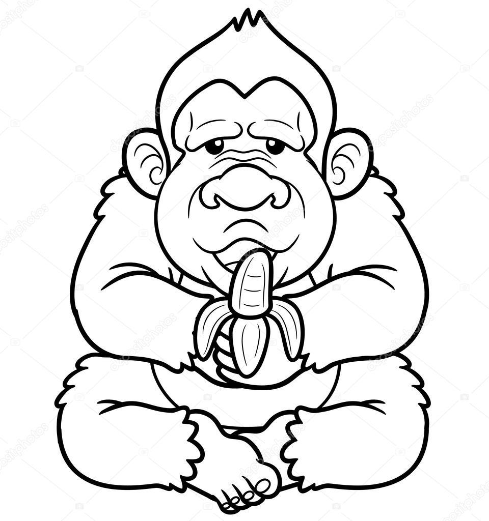Karikatür Maymun Stok Vektör Sararoom 29276413