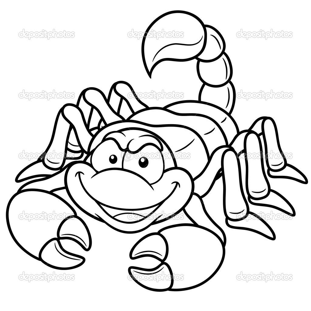 Dessin D Un Scorpion scorpion de dessin animé — image vectorielle sararoom © #29276649