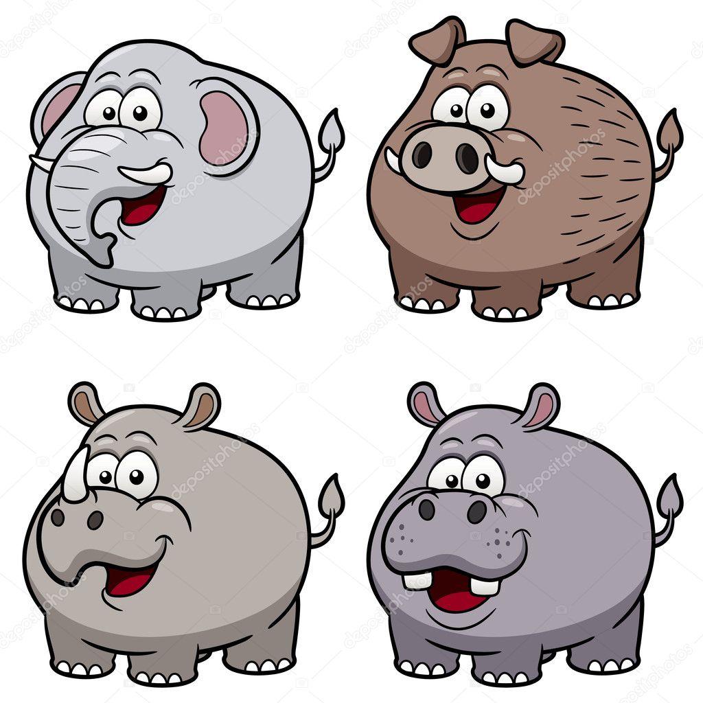 Wild animals cartoons