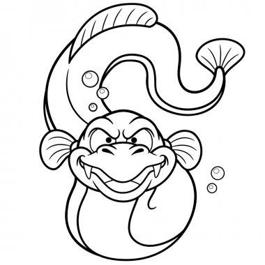 Electric eel cartoon