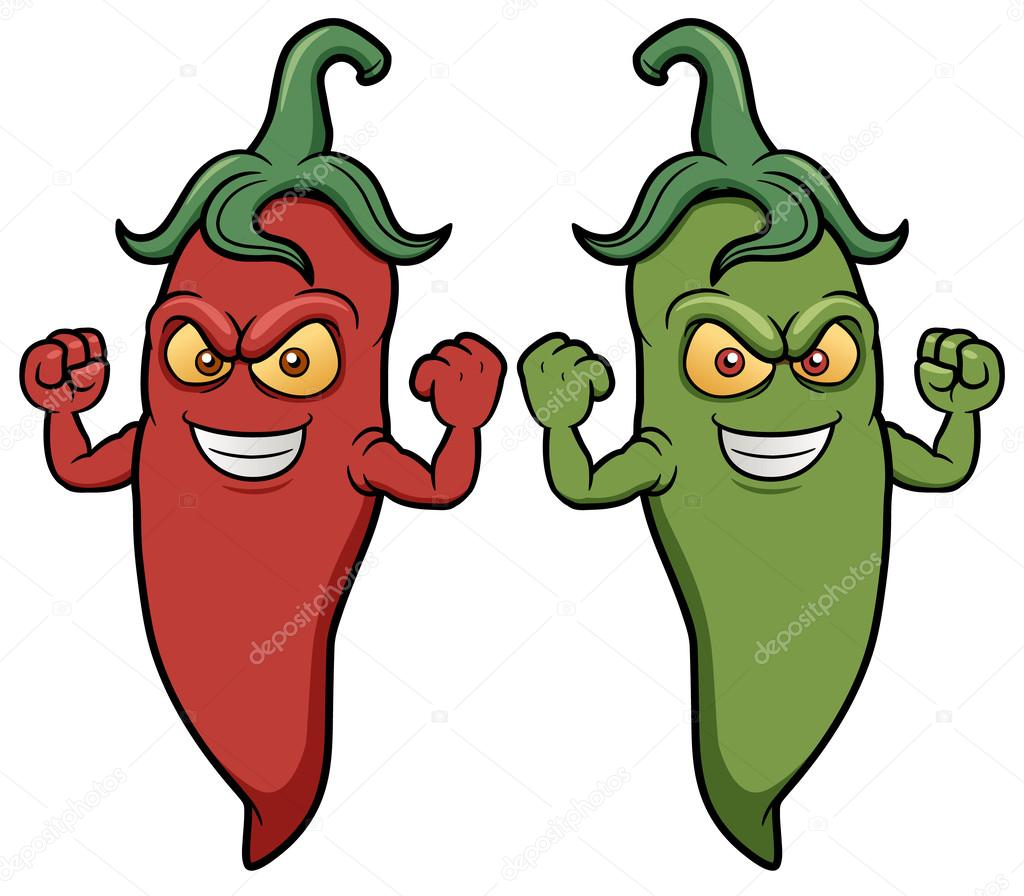 Cartoon chili peppers
