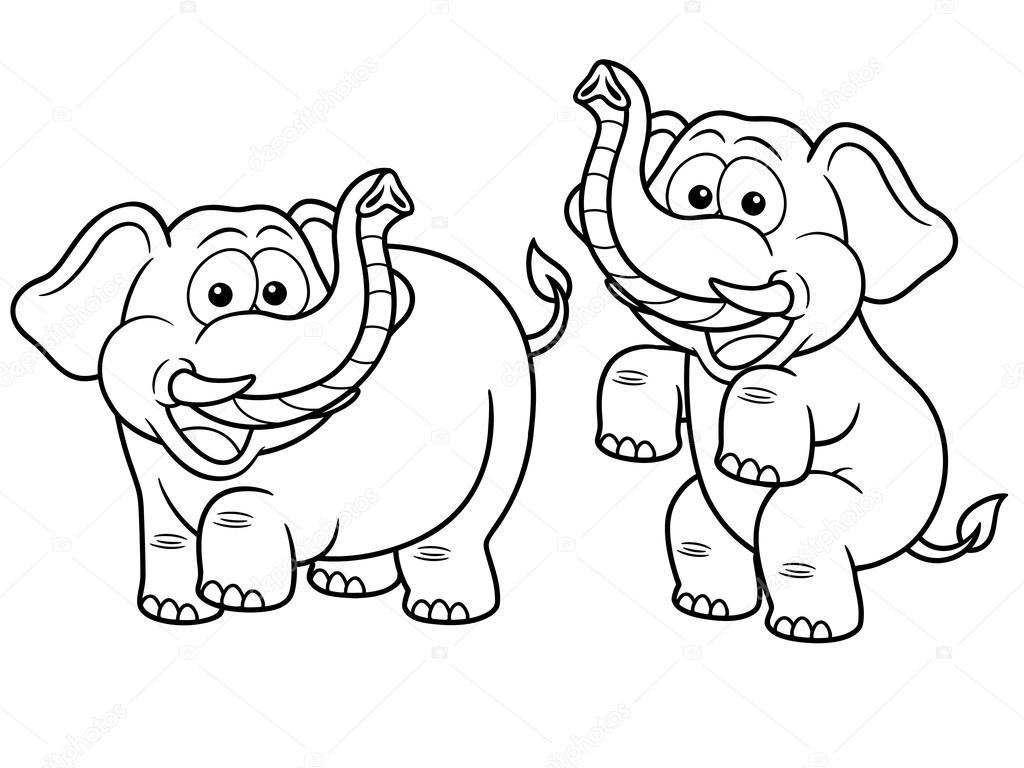 cartoon elephant u2014 stock vector sararoom 29483035