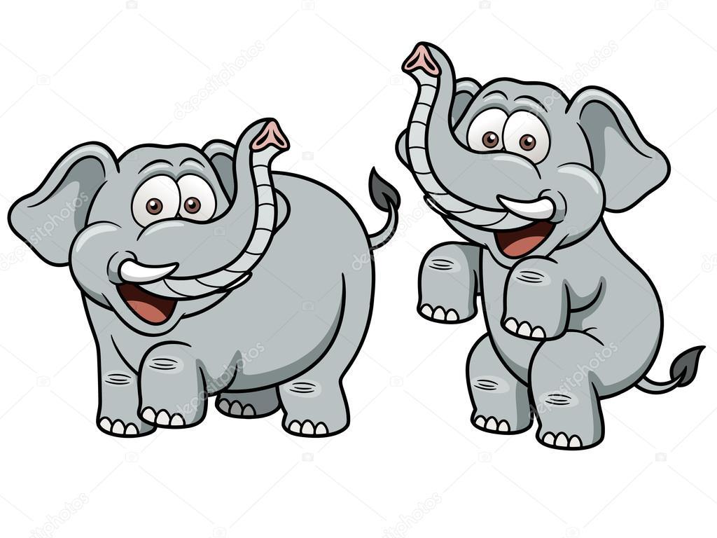 cartoon elephant u2014 stock vector sararoom 29483045