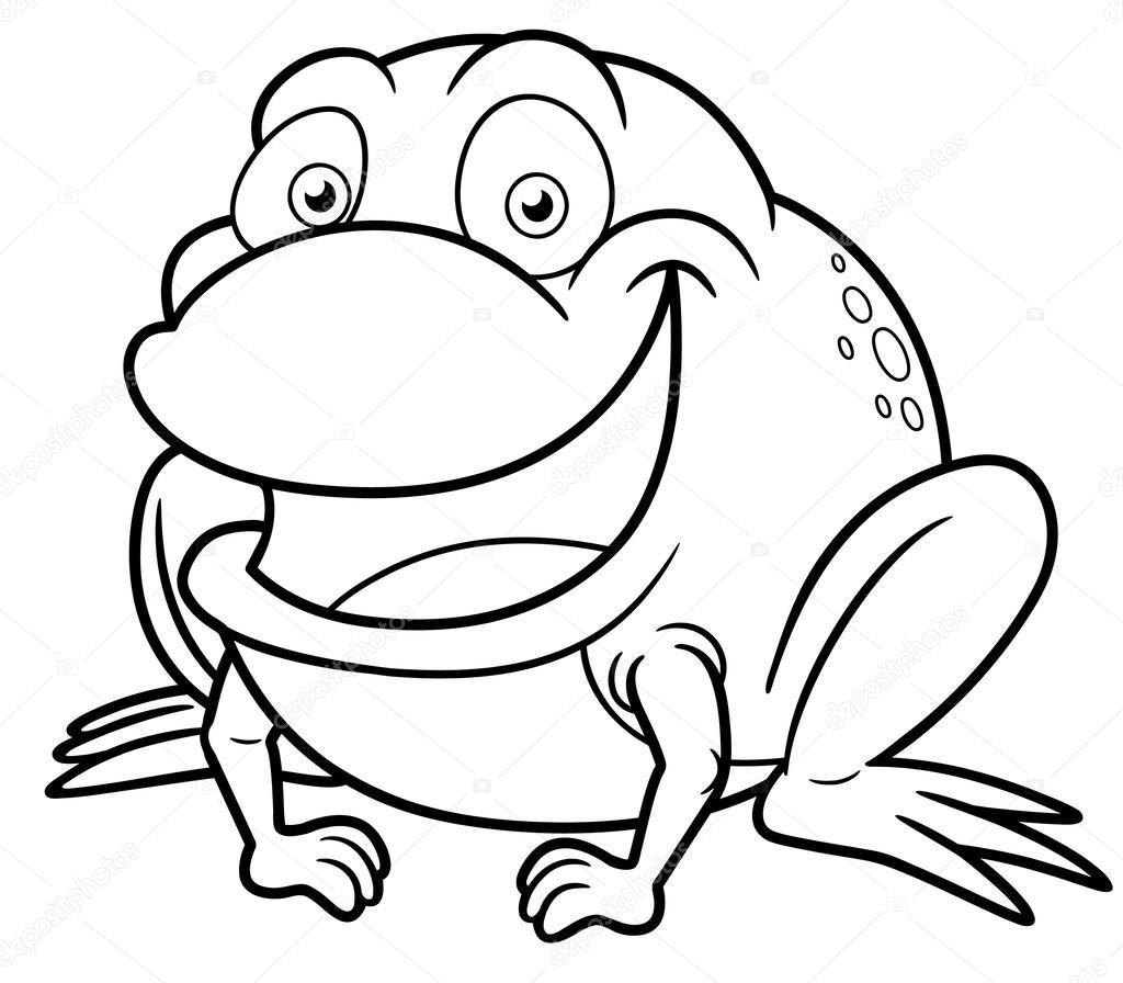 Frosch-cartoon — Stockvektor © sararoom #29483073