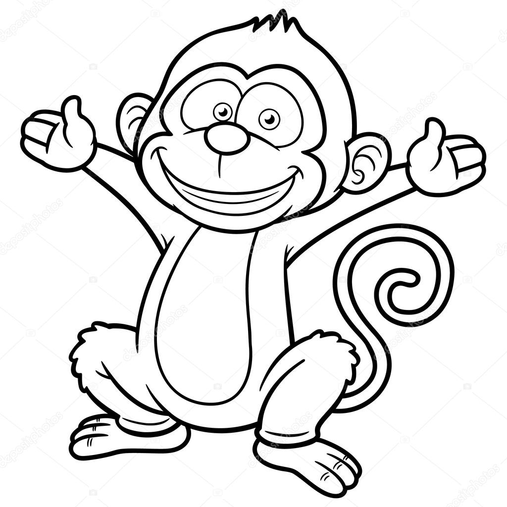 Karikatür Maymun Stok Vektör Sararoom 29604893