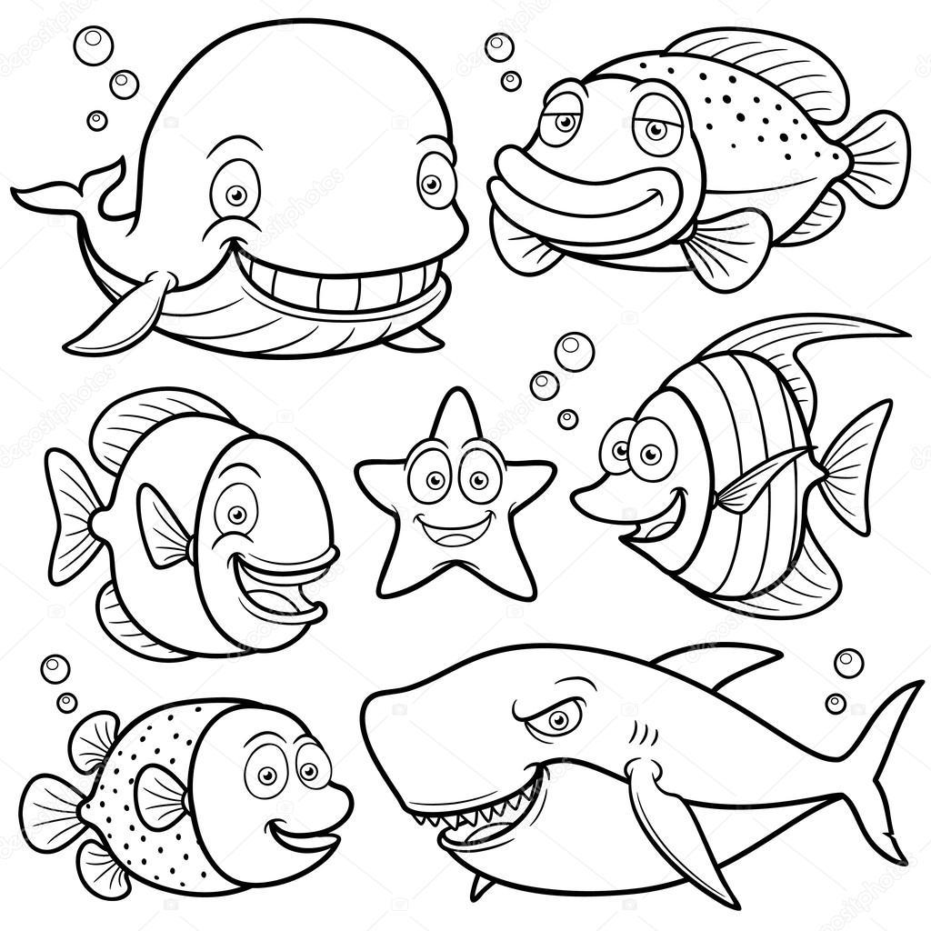 Debajo Del Mar Para Colorear Colección De Animales Del Mar
