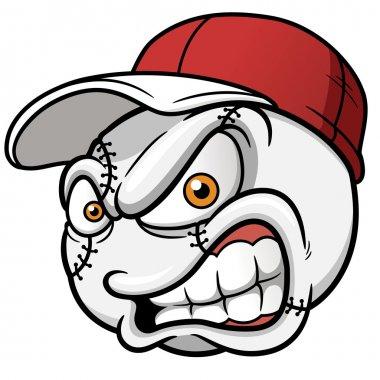 Baseball Cartoon Ball