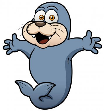 Vector illustration of Happy Seal stock vector